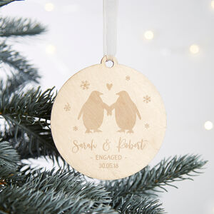 Engagement Keepsake Christmas Tree Bauble