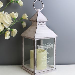 Personalised Wedding Light Up Lantern - lighting
