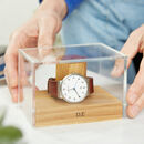 Personalised Oak Watch Stand One To Three Watches