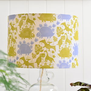 Saur Saur Lampshade Block Printed By Hand - children's lighting