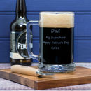 Personalised Engraved Glass Tankard