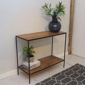 Industrial Console Table With Wood And Metal - dressers & sideboards
