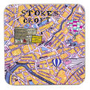 Bristol Map coaster Stokes Croft