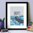 Moby Dick Book Cover Print