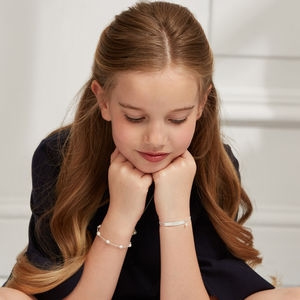 Pearl Station Bracelet - children's jewellery