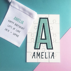 Personalised Monogram Initial Name Jigsaw Puzzle