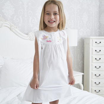 Girl's Dragonfly Cotton Nightdress