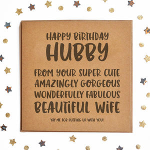 Happy Birthday Hubby Square Card