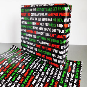 Honest Christmas Wrapping Paper