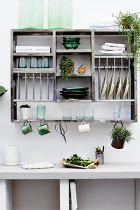 Mighty Stainless Steel Plate Rack - shelves