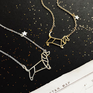 Dachshund Personalised Constellation Necklace - necklaces & pendants