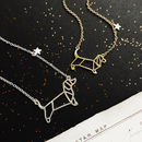 Dachshund Personalised Constellation Necklace