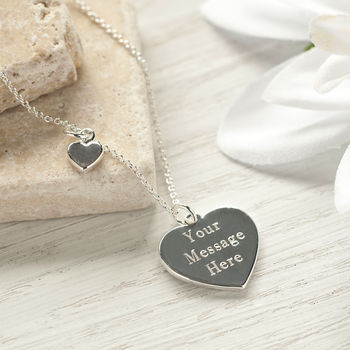 Personalised Silver Heart Nacklace