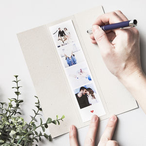Personalised Photo Booth Strip Card - best valentine's gifts for him