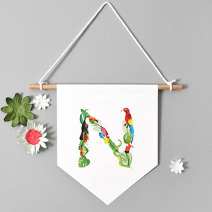 Jungle Initial Wall Hanging - baby's room