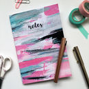 'Notes' Abstract Colourful Blank Notebook