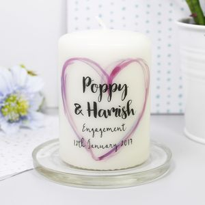 Personalised 'Engagement' Candle - candles & home fragrance
