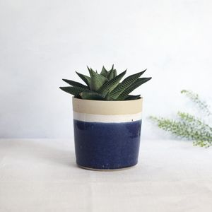 Handmade Speckled Small Planter - new in garden