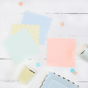 Pastel Party Napkins - napkins & napkin holders