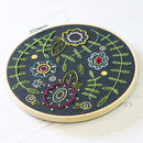 Black Spring Posy Embroidery Craft Kit