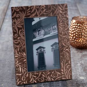 Embossed Copper Picture Frame - picture frames