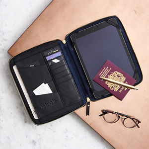 Luxury Leather iPad Organiser - gifts for him