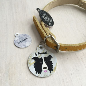 Personalised Marble Dog Breed ID Name Tag - clothes
