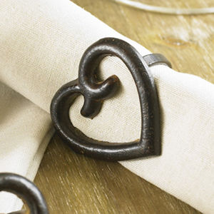 Wrought Iron Amore Napkin Ring - black friday sale