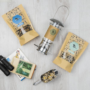 Blue Tit Bird Seed Gift Box - bird feeders