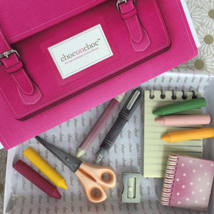 Stationery Chocolate Satchel - novelty chocolates
