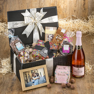 Luxury Personalised Chocolates And Champagne Hamper