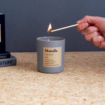 Fathers Day Gift Candle For Men Mandle Dictionary