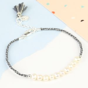 Twisted Cord And Pearl Bracelet - women's jewellery
