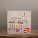 London Cityscape Illustrated Greetings Card