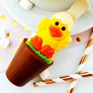 Easter Chick Hot Chocolate Spoon - easter chocolate