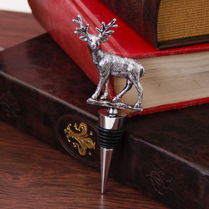 Stag Detail Bottle Stopper - kitchen