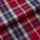 Men's Soft Red Tartan Two Fold Flannel Robe