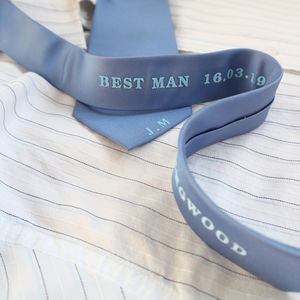 Personalised Best Man/Usher Gift Tie