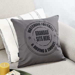 Personalised Grandad Stamp Cushion - bedroom