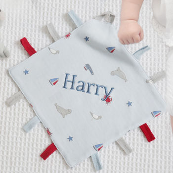 Personalised Nautical Print Taggy Style Comforter