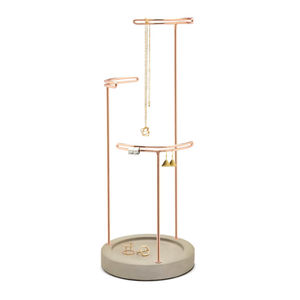 Concrete And Copper Jewellery Stand - jewellery storage & trinket boxes