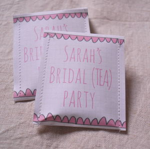 Bridal Shower Tea Bag Favour Pack Of 10