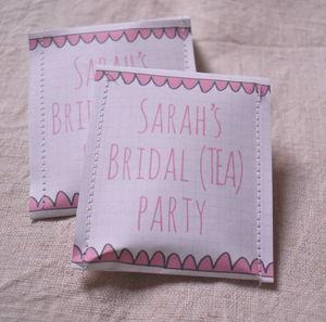Bridal Shower Tea Bag Favour Pack Of 10
