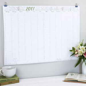 2017 Wall Planner Botanical
