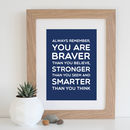 Navy background with oak frame