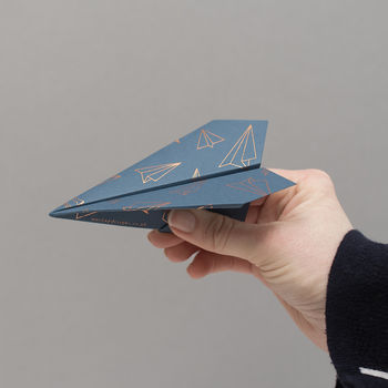 Foiled Paper Plane, Birthday Card