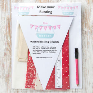 Scandi Bells And Stars Make Your Own Bunting Kit - garlands & bunting