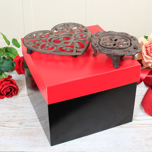 Personalised Trivet And Hot Plate Gift - dining room