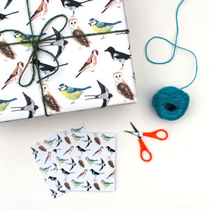 Garden Birds Wrapping Paper And Card Set