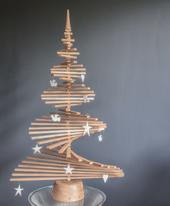 Oak Wood Christmas Tree - christmas decorations
